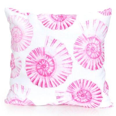 Nautilus Shell Outdoor Throw Pillow Size: 26