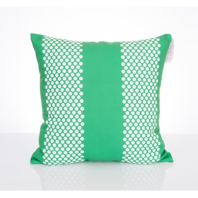 Bullseye Outdoor Throw Pillow Size: 20 H x 20 W x 2 D, Color: Kelly Green