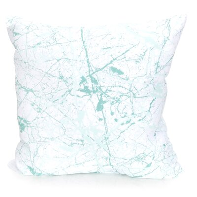 Marble Vein Outdoor Throw Pillow Size: 20 H x 20 W x 2 D, Color: Mint