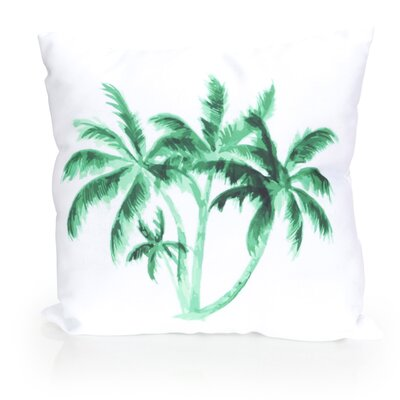 Palm Tree Outdoor Throw Pillow Size: 20 H x 20 W x 2 D, Color: Kelly Green