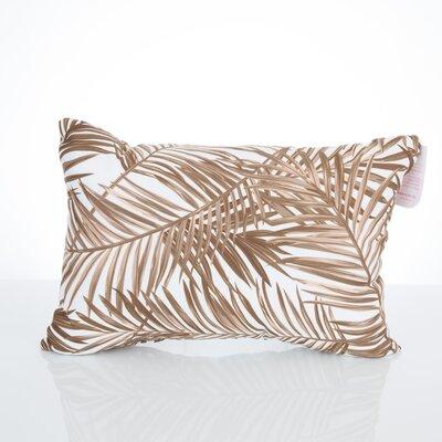 Palm Fronds Outdoor Lumbar Pillow Color: Brown
