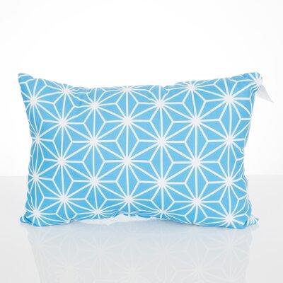 Twisted Kaleidoscope Outdoor Lumbar Pillow Color: Turquoise