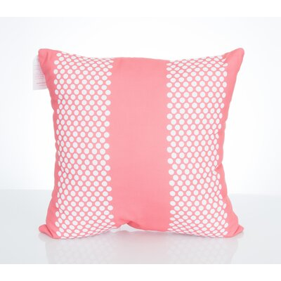 Bullseye Outdoor Throw Pillow Size: 20 H x 20 W x 2 D, Color: Coral