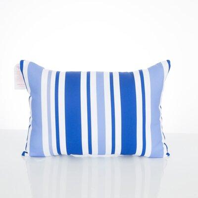 Vertical Stripe Outdoor Lumbar Pillow Color: Blue