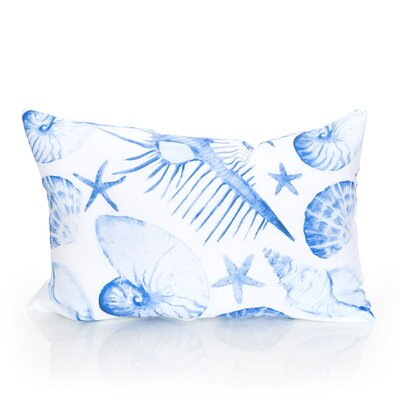Sea Life Outdoor Lumbar Pillow Color: Blue