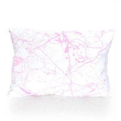 Marble Vein Outdoor Lumbar Pillow Color: Fuchsia