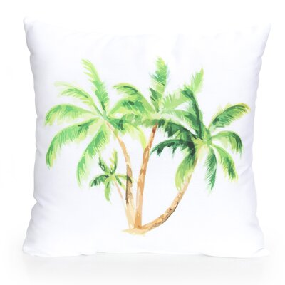 Palm Tree Outdoor Throw Pillow Size: 26 H x 26 W x 2 D, Color: Green