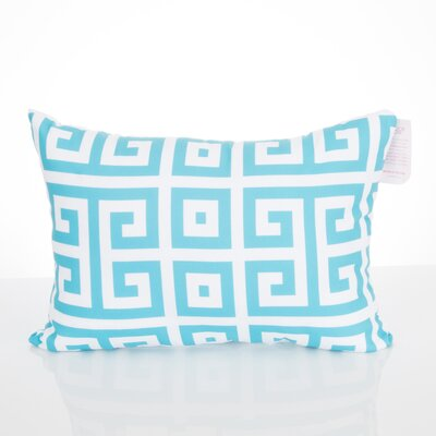 Greek Key Outdoor�Lumbar Pillow Color: Turquoise