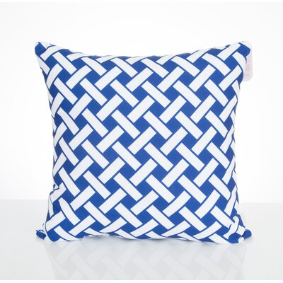 Lattice Outdoor Throw Pillow Color: Blue, Size: 26 H x 26 W x 2 D