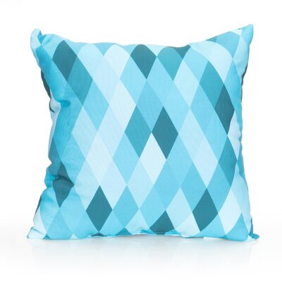 Harlequin Outdoor Throw Pillow Size: 26 H x 26 W x 2 D, Color: Turquoise