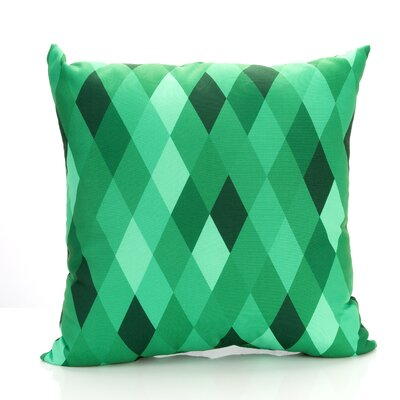 Harlequin Outdoor Throw Pillow Size: 26 H x 26 W x 2 D, Color: Kelly Green