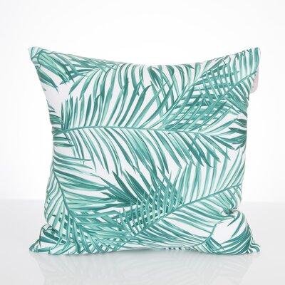 Palm Fronds Outdoor Throw Pillow Size: 20 H x 20 W x 2 D, Color: Mint