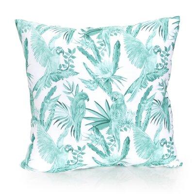 Tropical Parrot Outdoor Throw Pillow Size: 26 H x 26 W x 2 D, Color: Mint