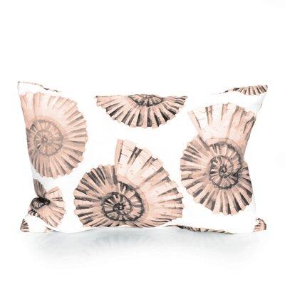 Nautilus Shell Outdoor Lumbar Pillow Color: Brown