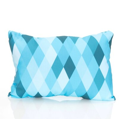 Harlequin Outdoor�Lumbar Pillow Color: Turquoise