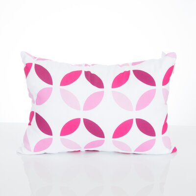 Mod Circles Outdoor Lumbar Pillow Color: Fuchsia