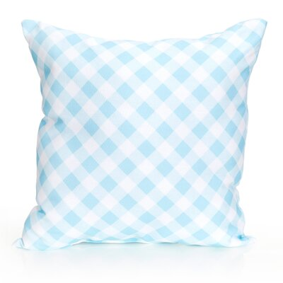 Check Plaid Outdoor Throw Pillow Size: 26 H x 26 W x 2 D, Color: Turquoise