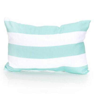 Cabana Stripe Outdoor Lumbar Pillow Color: Mint
