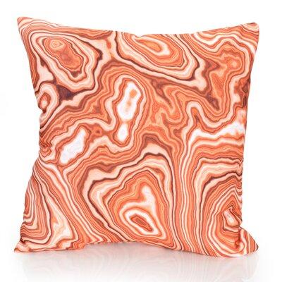 Malachite Outdoor Throw Pillow Size: 26 H x 26 W x 2 D, Color: Orange