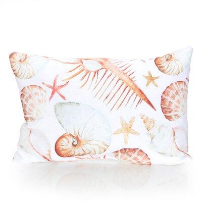 Sea Life Outdoor Lumbar Pillow Color: Yellow