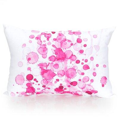 Watercolor Drop Outdoor Lumbar Pillow Color: Fuchsia