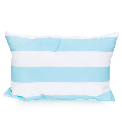 Cabana Stripe Outdoor Lumbar Pillow Color: Turquoise