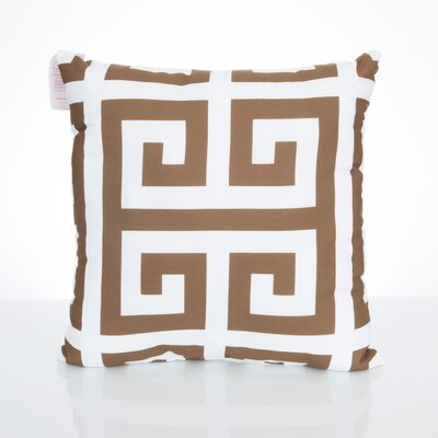 Greek Key Outdoor Throw Pillow Size: 26 H x 26 W x 2 D, Color: Brown