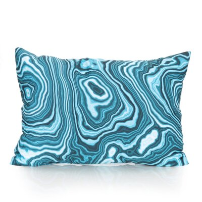 Malachite Outdoor�Lumbar Pillow Color: Turquoise