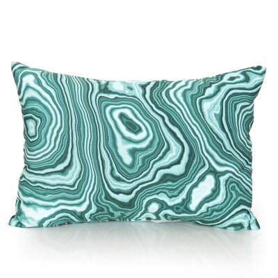 Malachite Outdoor�Lumbar Pillow Color: Mint