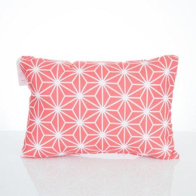 Twisted Kaleidoscope Outdoor Lumbar Pillow Color: Coral