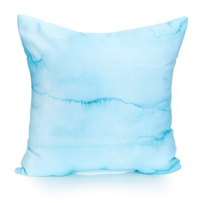 Watercolor Stripe Outdoor Throw Pillow Size: 20 H x 20 W x 2 D, Color: Turquoise