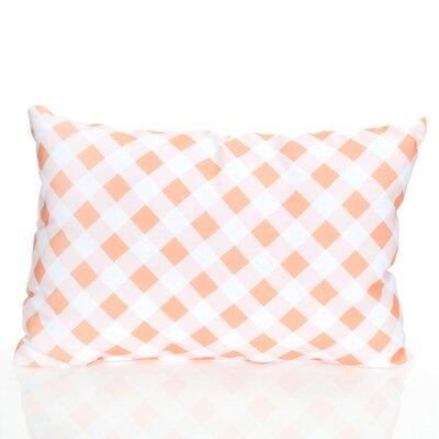 Check Plaid Outdoor Lumbar Pillow Color: Orange