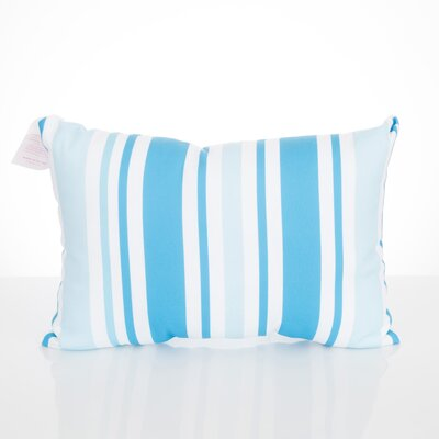 Vertical Stripe Outdoor Lumbar Pillow Color: Turquoise