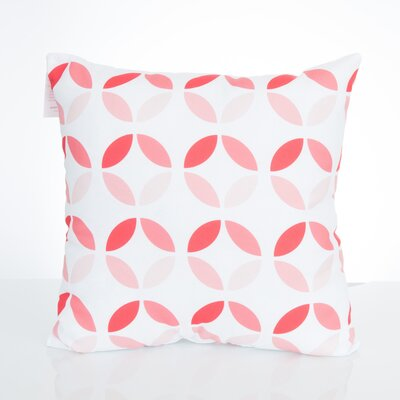 Mod Circles Outdoor Throw Pillow Size: 26 H x 26 W x 2 D, Color: Coral