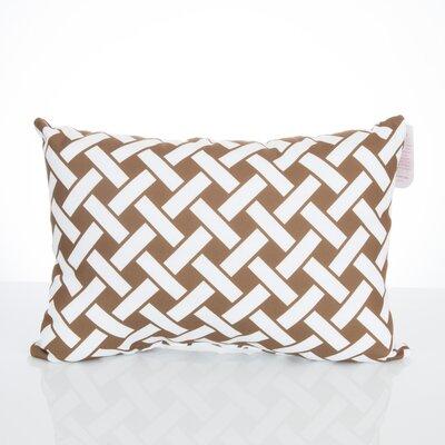 Lattice Outdoor Lumbar Pillow Color: Brown