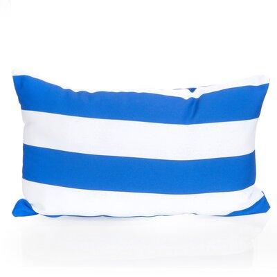 Cabana Stripe Outdoor Lumbar Pillow Color: Blue