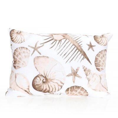 Sea Life Outdoor Lumbar Pillow Color: Brown