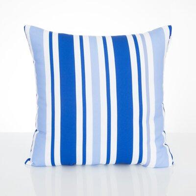 Vertical Stripe Outdoor Throw Pillow Size: 20 H x 20 W x 2 D, Color: Blue