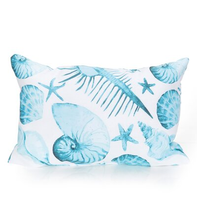 Sea Life Outdoor Lumbar Pillow Color: Turquoise