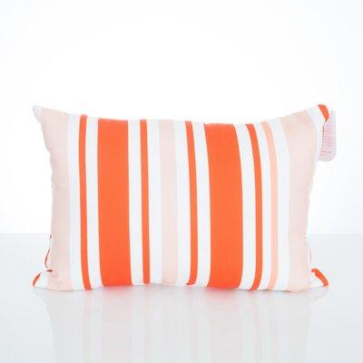 Vertical Stripe Outdoor Lumbar Pillow Color: Orange