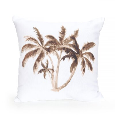 Palm Tree Outdoor Throw Pillow Size: 20 H x 20 W x 2 D, Color: Brown