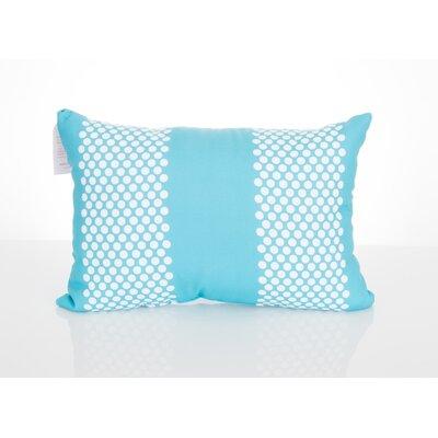 Bullseye Outdoor Lumbar Pillow Color: Turquoise