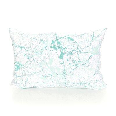 Marble Vein Outdoor Lumbar Pillow Color: Mint