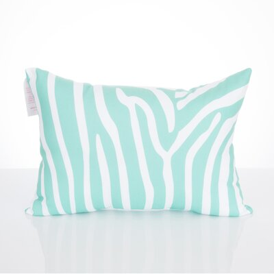 Zebra Outdoor Lumbar Pillow Color: Mint