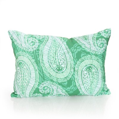 Paisley Outdoor Pillow Lumbar Pillow Color: Kelly Green