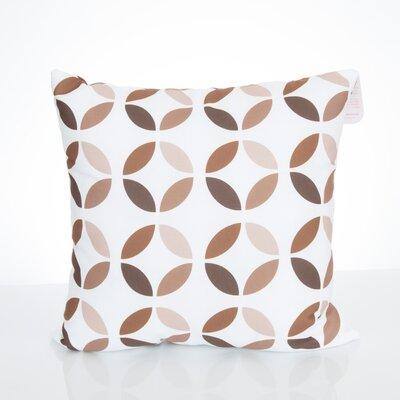 Mod Circles Outdoor Throw Pillow Size: 20 H x 20 W x 2 D, Color: Brown