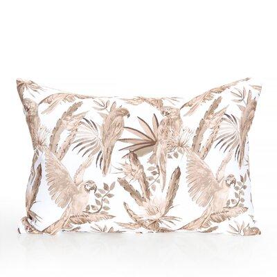 Tropical Parrot Outdoor Lumbar Pillow Color: Brown