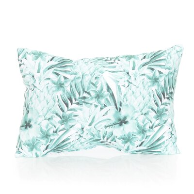 Tropical Pineapple Outdoor Lumbar Pillow Color: Mint