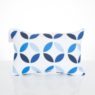 Mod Circles Outdoor Lumbar Pillow Color: Blue