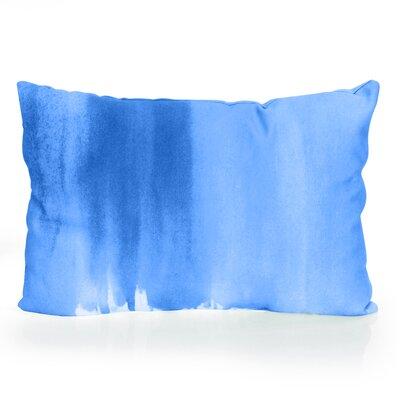 Ombre Watercolor Outdoor Lumbar Pillow Color: Blue